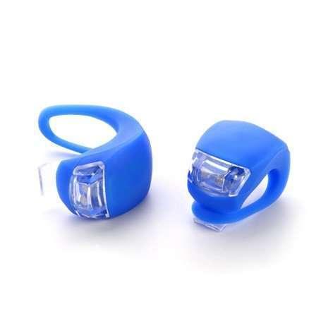 Фара XC-108, мягкое крепление, пластик, 2 светодиода, синий