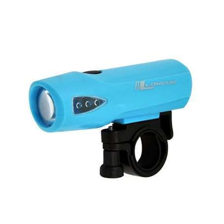 Фонарь передний LONGUS 1W LED 3 функции, голубой