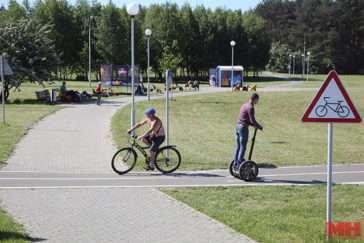 Велодорожка возле Цнянского водохранилища