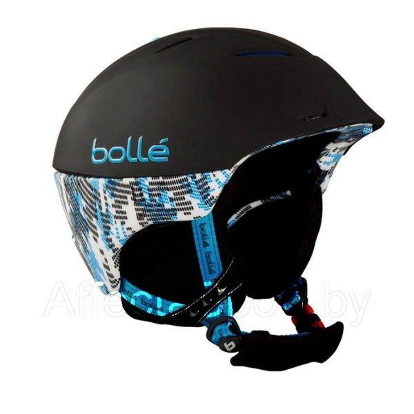 Шлем горнолыжный Bolle Synergy Soft Black & Blue 52-54 см