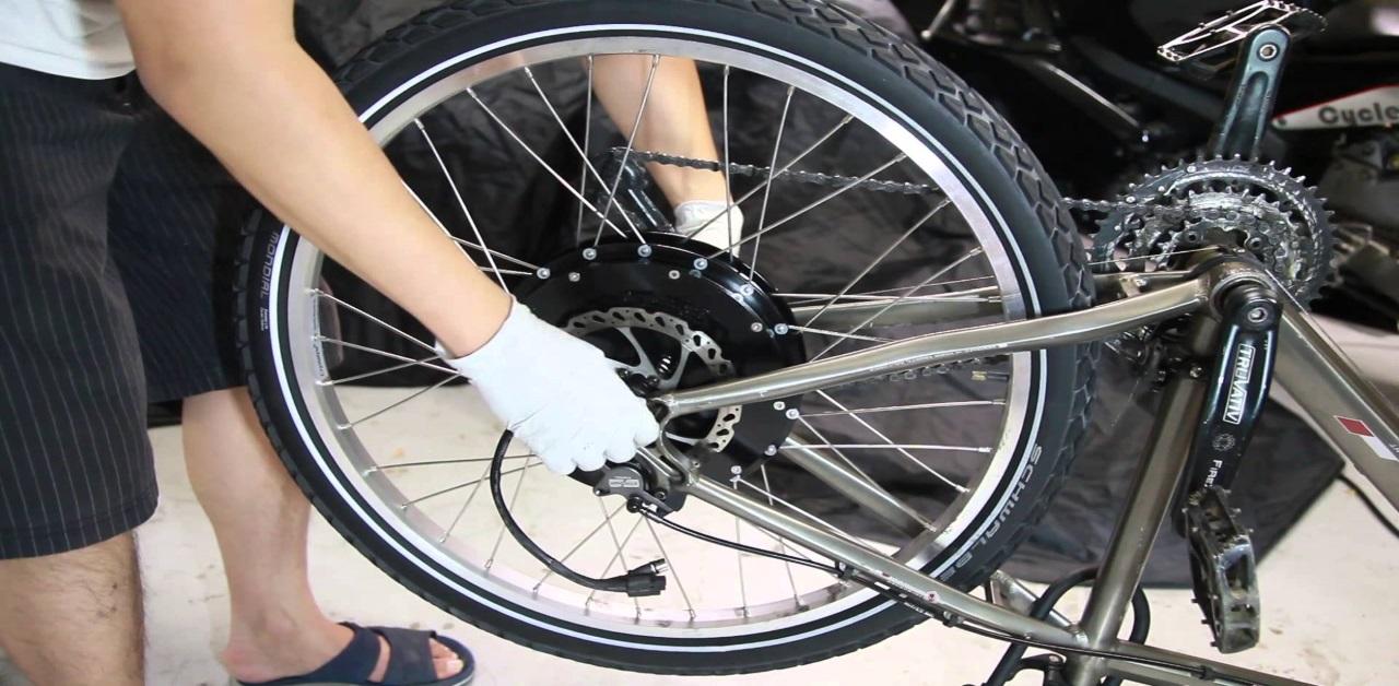Электродвигатели для велосипеда и принципы из установки