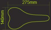 Седло DDK D060 Flow (чёрный/синий)