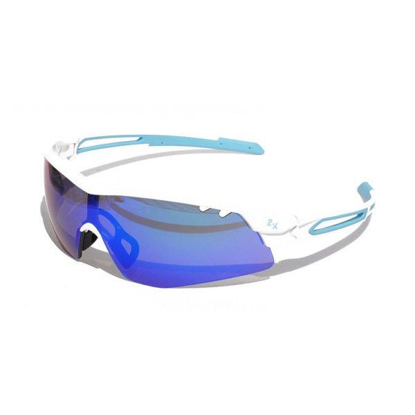 Очки солнцезащитные 2K S-15002-G (белый глянец / зелёные revo) (4006)