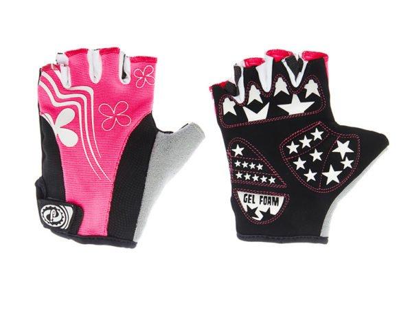 Перчатки JAFFSON SCG 47-0122 M (чёрный/белый/розовый); Пакистан
