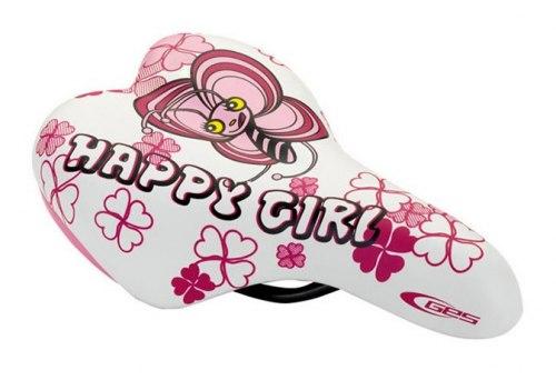 Седло DDK 1216 Happy girl (белый/розовый)