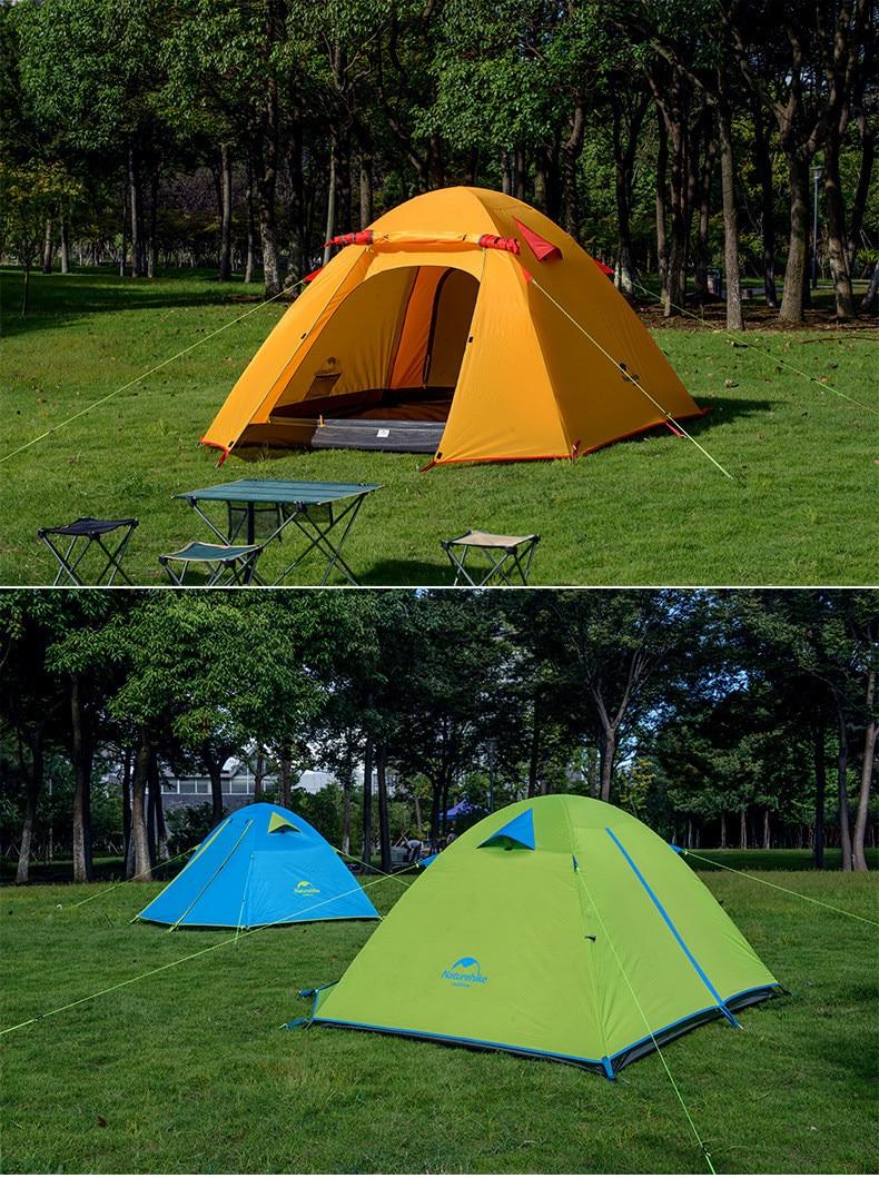 Прокат четырехметной палатки Naturehike P-Series 4 (210T)