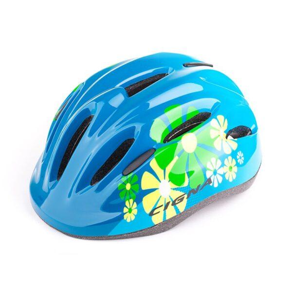 Шлем велосипедный детский Cigna WT-024 чёрный-синий