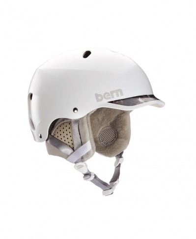 Шлем BERN Lenox EPS Satin White w/ Grey Brim 2021