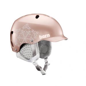 Шлем Bern Lenox EPS Satin Rose Gold Snowflake Grey Liner