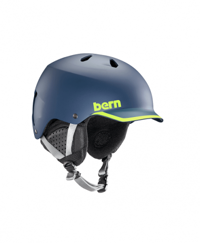 Шлем BERN Watts EPS Matte Navy/Hyper Green Trim